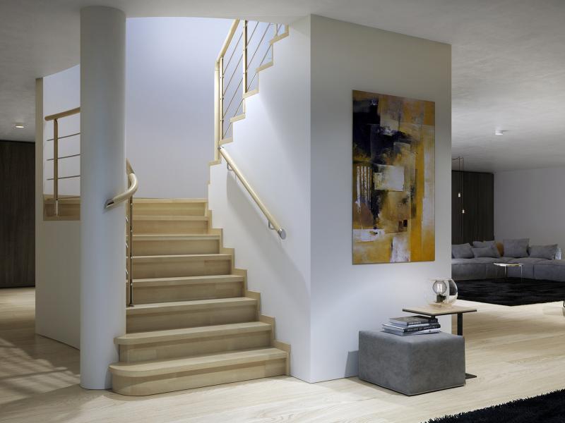 Modish Nowoczesne projekty schodów w domu - pozwól się zainspirować WK54