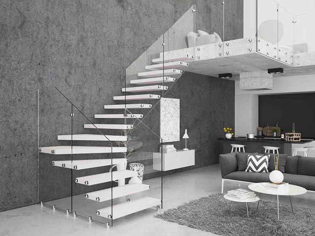 Nowoczesne projekty szklanych schodów