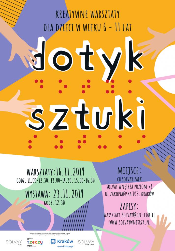 """""""Dotyk Sztuki"""" kreatywne warsztaty dla dzieci w Solvay Wnętrza 16.11.19"""