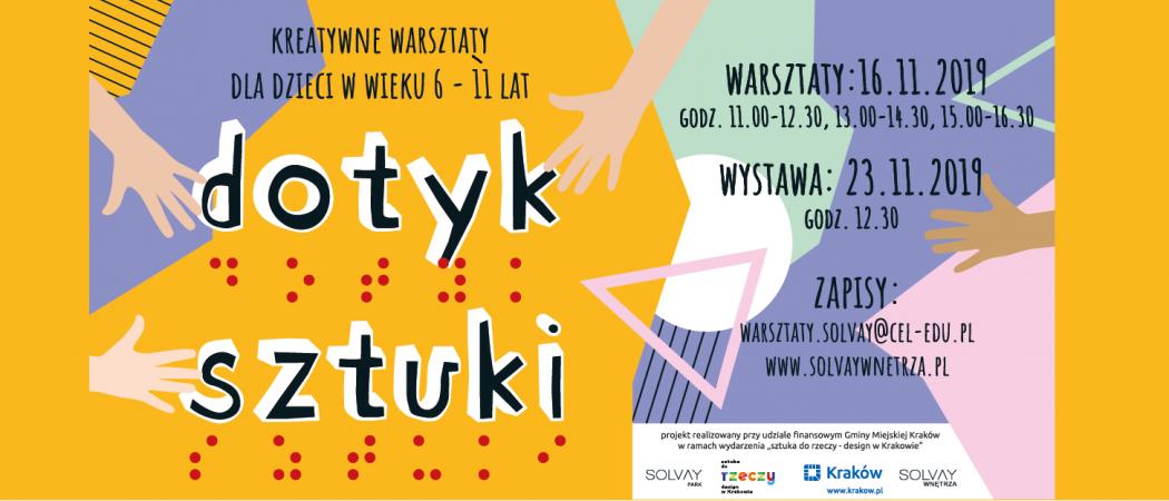 """""""Dotyk Sztuki"""" kreatywne warsztaty dla dzieci 16.11.2019"""